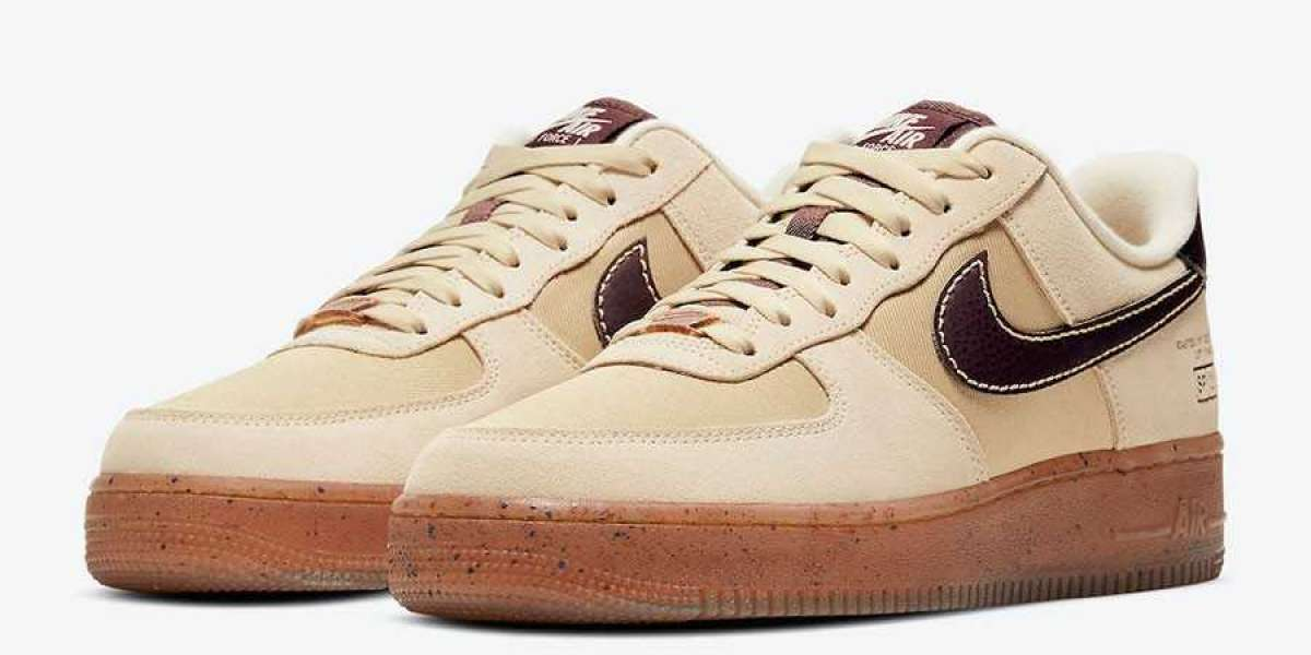"High-quality shoe body! Nike Air Force 1 Low ""Coffee"" DD5227-234 is now officially on sale!"